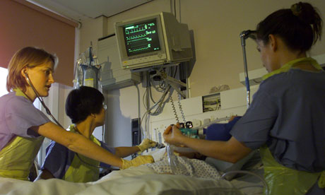 Intensive care unit Middlesex hospital, London