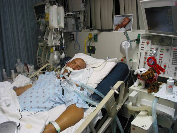 What are the chances of survival for a person in an induced coma?